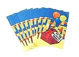 Papiertüten für Mitbringsel und Partygeschenke (8 Stück) für von Building Brick-inspirierte Parties – perfekt für Mitbringsel, Geschenke oder Lunchbags und Popcorn