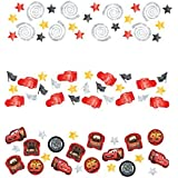 Amscan Disney Cars Formula Racer Birthday Party Confetti Decoration, 1.2 oz, Red/Gray/White/Yellow by Amscan