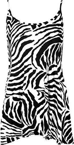 Funky Fashion Shop Damen Kleid Zebramuster
