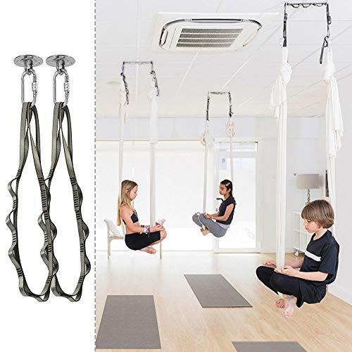 Gototop kit per appendere l'amaca professionale per sospensione, sling trainer, amaca, tenda, sacco da boxe e aerial yoga,ancoraggio da parete e soffitto con rotondo anello