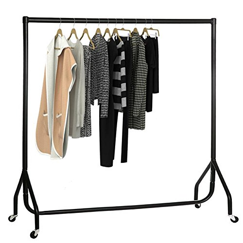 oypla-5ft-garment-clothes-rail-super-heavy-duty-all-metal-black