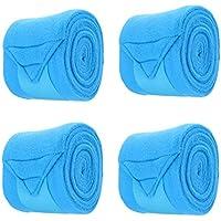 Homyl 4 Pedazos de Envoltura de Pierna Ecuestre para Mascota Mutiusos Ligero de Seguridad de Caballo - Azul