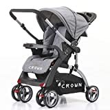 Best Dual Strollers - Crown ST530 Buggy Stroller Dual-way Grey Review