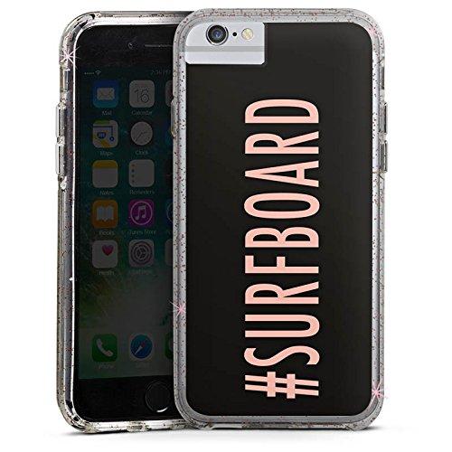 Apple iPhone X Bumper Hülle Bumper Case Glitzer Hülle Surfboard Flawless Statement Bumper Case Glitzer rose gold