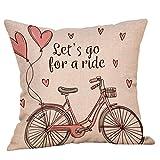 LONUPAZZ Housse De Coussin Carré Joyeuse Saint Valentin Housse Oreiller Coussin Carré Doux Amour Cushion Cover 45 X 45