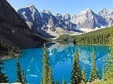 Fototapete Moraine Lake Kanada KT237 Größe: 350x260cm Tapete See Blau Natur