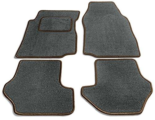 JediMats 27042-JAV-DUNKELBR-SCHI Java Maßgeschneiderte Fußmatte für Ihr Auto Schiefer -