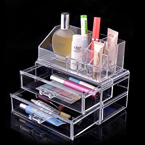 Rokoo Tiroirs cosmétiques supérieurs de stockage de boîte d'organisateur de maquillage de bijoux cosmétiques