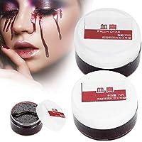 Cara Profesional Pintura Gel de Sangre Falso Corporal Aceite Coágulo Falso Sangre Gel Cicatrices de Vampiros Brujas de Halloween(15ML)