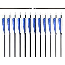 "Bangta 31 pulgadas decut 5 ""natural de plumas Targeting/Caza Tiro con arco Flechas de Fibra de vidrio con changeble Consejos para Recurvo y arco largo"