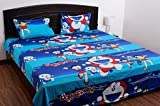 #8: Singhs Kids Cartoon Double Bedsheets with 2 pillow Covers-Blue