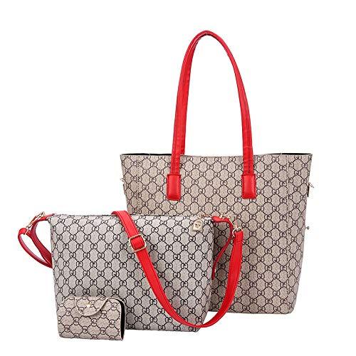 Ldyia Bag Damentasche alte Blume Umhängetasche Druck große Kapazität Mädchen Einkaufstasche, 3 Sätze, Stil 2