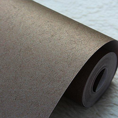 Zhzhco Non-Woven Tapeten Tapete Dunkelbraun Schlafzimmer Wohnzimmer Tv Hintergrund Tapete, Schlicht Und Modern Style Solid Plain 0.53Mx10M Nicht Selbstklebende