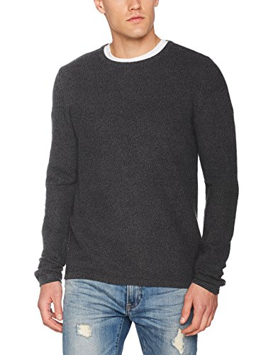 TOM TAILOR Herren Sweatshirt Basic Crew Neck Sweater, Grau (Explicit Grey 2814), XX-Large (Neck Sweatshirt Basic Crew)