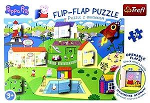 Flip-Flap Puzzle z okienkiem 36 Swiat Swinki Peppy