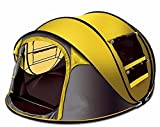 STAR HOME Seconds Pop-up Quick-opening Tents 3-4 Person (Yellow)