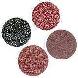 SOMXK Papier de Verre 50Pcs 2 Pouces 1 & Quot;3 & Quot;Disque abrasif de Type R de Type sablé pour Disque de ponçage Roloc 75mm 50mm Grain 24/36/40/80/120/240/320, 50PCS, 240