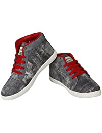 Super Men/Boys Grey-285 Casual Shoes (Sneakers)