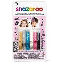 Snazaroo - Set de 6 barras de pintura facial para chicas