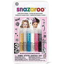 Snazaroo - Maquillage - Set de 6 Sticks de Peinture Pour Visage