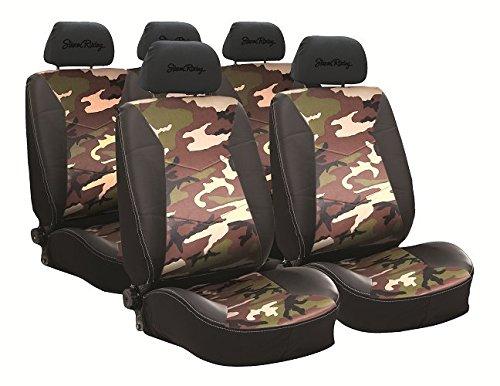 Preisvergleich Produktbild Simoni Racing CSR/GC Sitzbezüge Universal Typ G Camo, Schwarz und Camouflage Fabric,