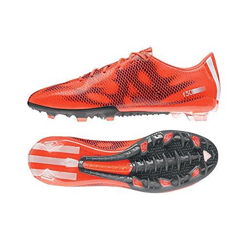 adidas F30 Fg, Scarpe da Calcio Uomo Rosso (solar red/ftwr white/core black)