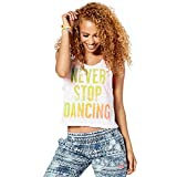 Zumba Fitness Damen Never Stop Dancing Tank Frauentops, Wear It Out White, L