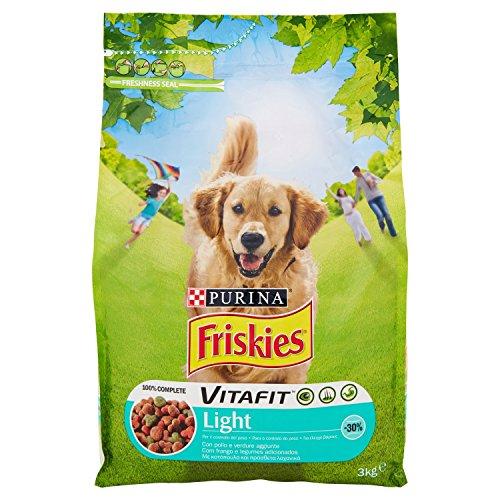 Friskies vitafit light crocchette per il cane, con pollo e verdure, 3 kg