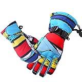 Scettar Kinder Handschuhe ski Handschuhe Warm Winter Handschuhe Anti-Rutsch Sport Handschuhe Camo Windproof Skatinghandschuhe Geeignet für Jungen und Mädchen (L)