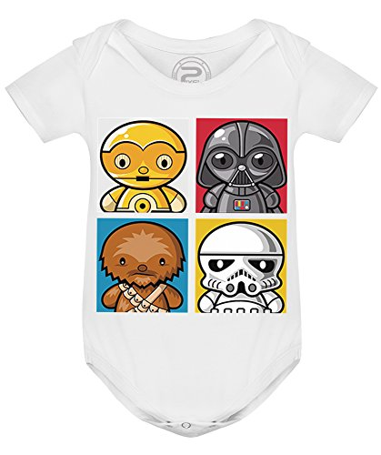PIXEL EVOLUTION Body Bebé 4 Star Wars tamaño 9 Meses - Blanco