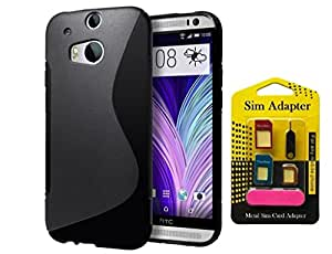 Super Saver Combo Offer Buy Wellmart Back Case Cover For HTC One M8 And Get Free Metal Sim Card Adapter