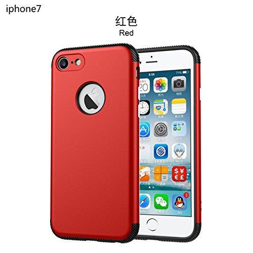 iphone 5/5s/SE Hülle case,Ultra Shockproof Premium kohlefaser Soft TPU Silikon Hart PC Hybrid Bumper Outdoor Sports Handyhülle Sehr Leicht Robuste Rückseite Tasche für iphone SE Schutzhülle Rot Rot