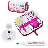 Juego de cuidado de nuvita para recién nacidos//Girl//cepillo auténtica lana//Incluye Funda & Chicco Termómetro Digital peadric & Chicco Baby 's Smell Aroma Agua