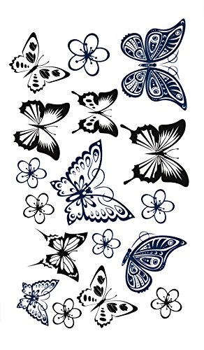 Temporäres Arm Fake Tattoo Schmetterling Butterfly Freiheit für -