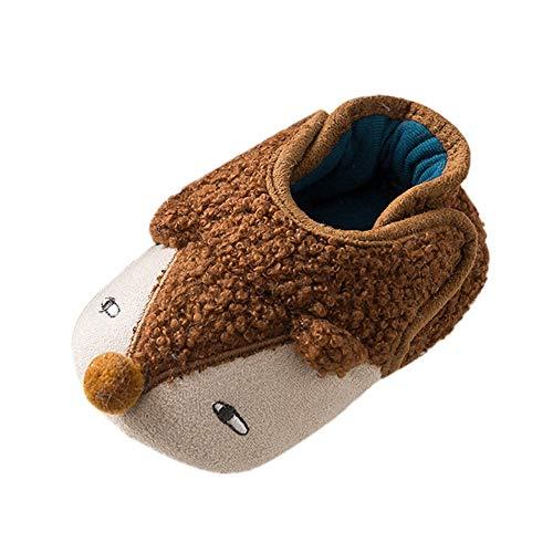 Recién Nacido Zapatos Primeros Pasos Invierno, LANSKIRT Zapatos de Niño Niña Bebé Sólido Dibujos Animados Zapato Lindo de la Expresión Zapatos de Erizo de Invierno