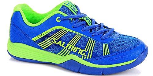 Salming Salming Viper 3 Kids Indoor Handballschuhe Hallenschuhe Kinderschuhe blau/grün, Schuhgröße:EUR 33