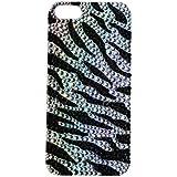 Lux de imitación accesorios iPhone 5/5S negro teléfono móvil funda de vinilo de piel de cebra