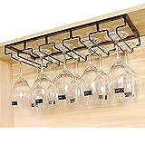 E Support Gläserhalter Gläserschiene edelstahl Glas Wein Champagner Cup Hangers Rack Halter mit Schrauben für Bar, Zuhause, Cafe
