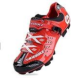 WIN Homme Casual Chaussures de cyclisme pour homme respirant avec semelles carbone ou en nylon semelles TPU pour Route et VTT Red for MTB 10 UK