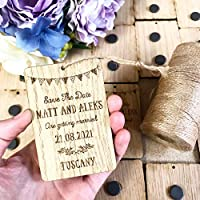 Personalised save the dates | wooden fridge magnets for wedding invitations | weddings | engagement save the day accessories