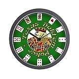 """Reloj de pared CafePress–Poker Poker–Unique decorative 10""""reloj de pared"""