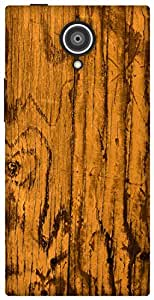 The Racoon Grip vintage wood yellow hard plastic printed back case / cover for Gionee Elite E7