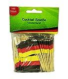 HAAC 100er Set Cocktailspieße Spieße Fahne Flagge Deutschlandsfarben Deutschland Fußball EM 2016