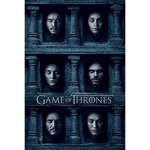 empireposter 737564 Game of Thrones – Hall Of Faces – Fantasy Film Movie Poster, Carta, Multicolore, 91,5 x 61 x 0,14 cm