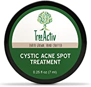 TreeActiv Cystic Acne Spot Treatment, Best Extra Strength Fast Acting Formula for Clearing Severe Acne.