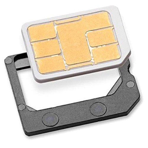 Nano SIM Adapter zu MicroSIM - PREMIUM QUALITÄT - MADE IN GERMANY - für iPhone X - 8 (Plus) - 7 (Plus) / 6S / 6 und andere Handy Sim Karten (Samsung etc.) zur Verwendung als MicroSIM Karte im Charmate Druckverschlussbeutel