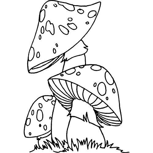 Azeeda A7 'Funghi' Timbro di Gomma Non Montato (RS00001899)