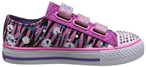 Skechers - Shuffles - Glitter N Glitz, Senakers a collo basso per bambine e ragazze Rosa (HPMT)
