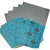 Wasserschleifpapierset 12 Blatt - Je 2 Blatt 800 1000 1200 1500 2000 3000