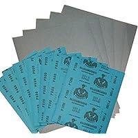 Wasserschleifpapier 12 Blatt je 2 Blatt 800 1000 1200 1500 2000 3000 / Maße 230 mm x 280 mm / Nass-Schleifpapier / bestes Oberflächenfinish / flexibles Trägerpapier / kurze Einweichzeiten / optimale Anpassung an die Objektkonturen / hohe Abtragsleistung durch gleichmäßige Rauhtiefe / Aufpolieren mit Hochglanzpolituren / kleine Ausschleifungen von Staubeinschüssen